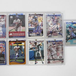 Montreal Expos - Vladimir Guerrero Signed Autographed Card Lot of (9) - Incl. Topps Chrome