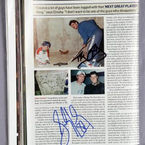 Sidney Crosby amd Troy Crosby Dual Signed Sports Illustrated 2003
