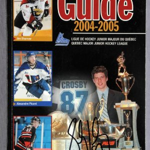 Sidney Crosby Signed 2004 Quebec Major Junior Hockey League Guide
