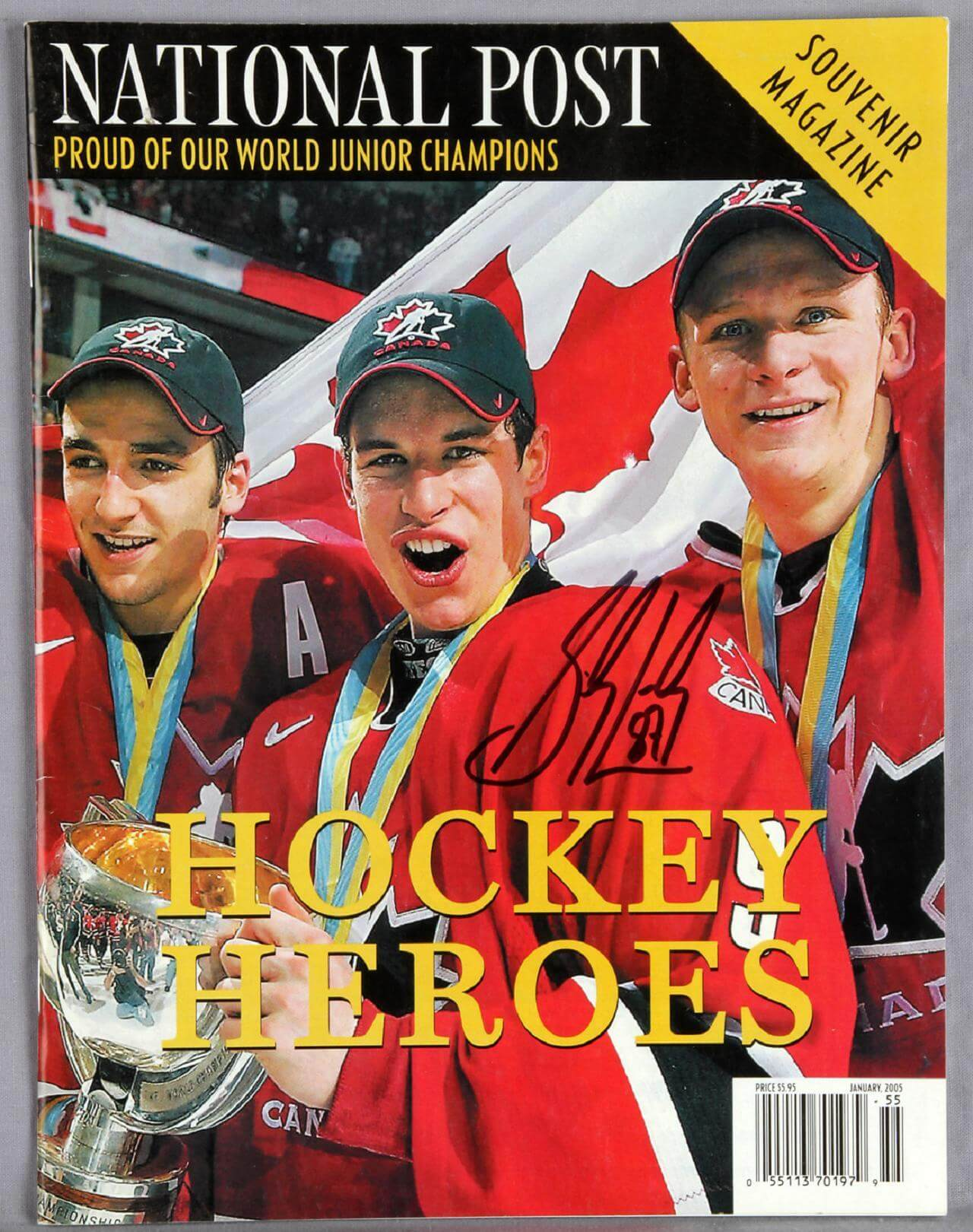 Sidney Crosby Signed National Post Souvenir Magazine
