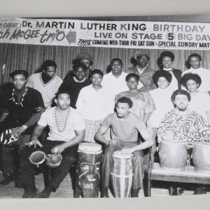 Teenie Harris 11x14 Photo - Behind the Scenes of Martin Luther King's Birthday Celebration