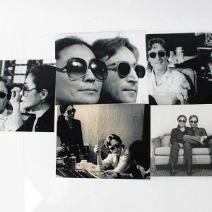 The Beatles - John Lennon & Yoko Ono - (5) 8x10 Reprint Photo Lot by David Spindel