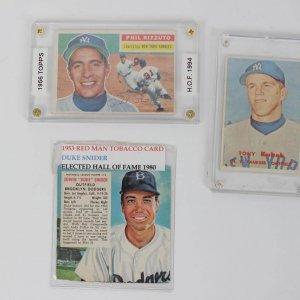 Trio of 1950s Baseball Cards Lot - 1953 Red Man Duke Snider