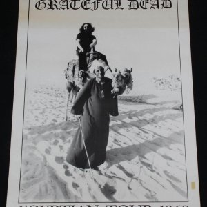 Grateful Dead Egyptian Tour 1968 Poster 36x25