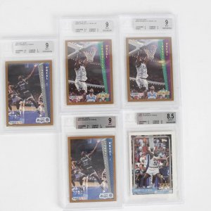 Lot Of 5  Beckett Graded Shaquille Oneal  Cards