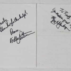 "2003 CSI Television Show - ""Inside the Box"" Episode - Pair of Production Sides Signed by William Peterson & Marg Helgenberger"