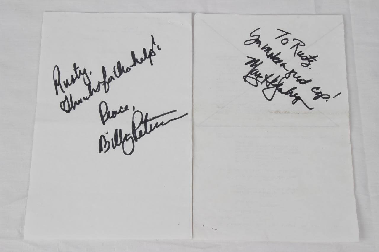"2003 CSI Television Show – ""Inside the Box"" Episode – Pair of Production Sides Signed by William Peterson & Marg Helgenberger"