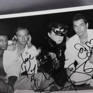 "Culture Club Boy George Signed ""Love"" 8x6 Photo Roy Hay Jon Moss Mikey Craig"