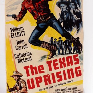 "Vintage 1940s Movie Poster ""The Texas Uprising"" a.k.a. ""The Fabulous Texan"" Western Film  27x41"