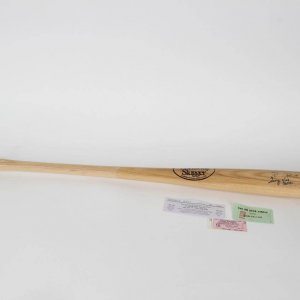 Hall of Famers Robin Roberts, Bob Feller & George Kell Signed Baseball Bat