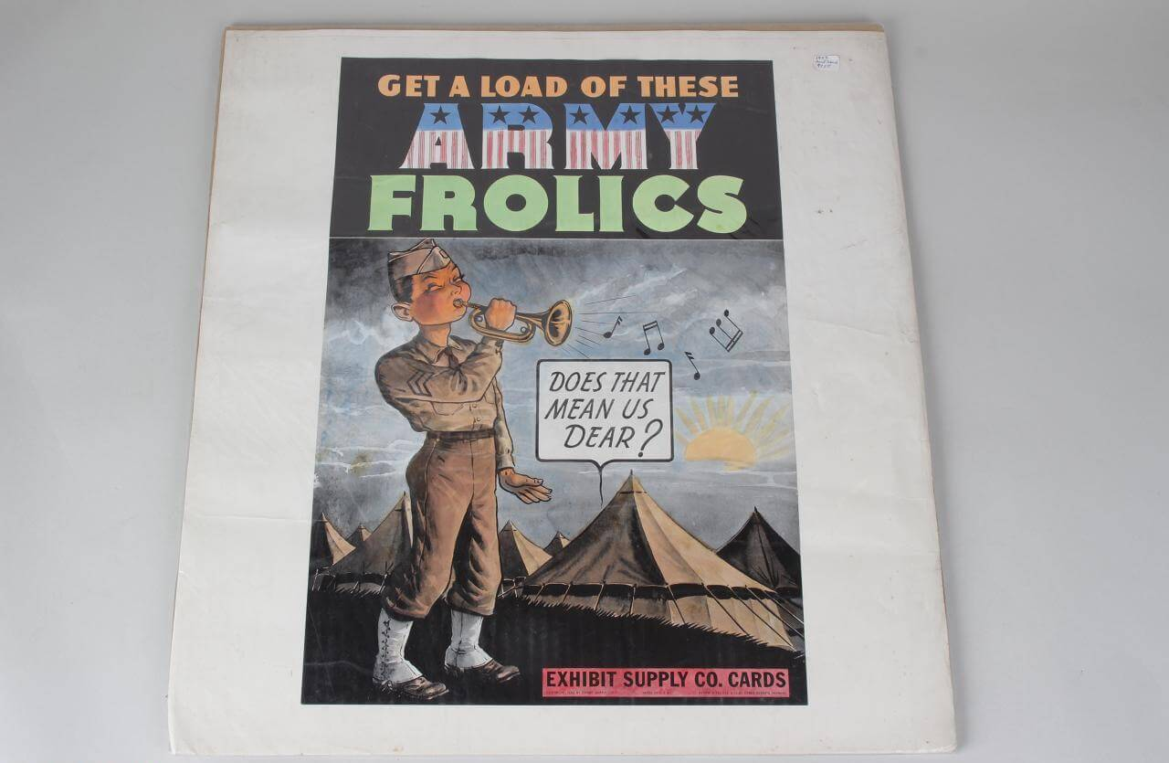 "1943 Exhibit Supply Company Advertising ""Get a Load of These Army Frolics"" Poster"