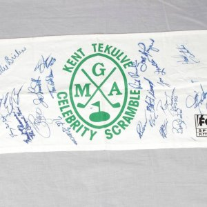 Celebrity Golf Tournament Flag Signed By 21 Elroy Face