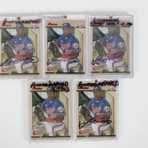 Montreal Expos - Vladimir Guerrero Signed Autographed Card Lot of (5) - All 1996 Bowman (#374)