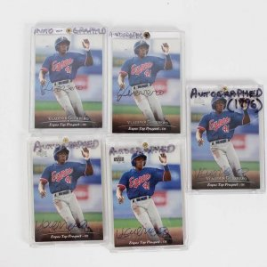 Montreal Expos - Vladimir Guerrero Signed Autographed Card Lot of (5) - All are 1994 Upper Deck (#127) Top Prospect Rookies