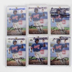 Montreal Expos - Vladimir Guerrero Signed Autographed Card Lot of (6) - All are 1994 Upper Deck (#127) Top Prospect Rookies