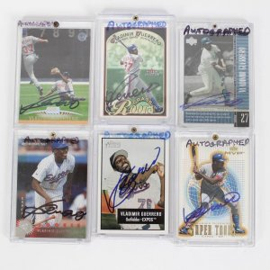 Montreal Expos - Vladimir Guerrero Signed Autographed Card Lot of (6) - Incl. UD Legends