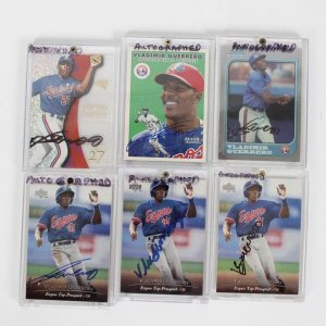 Montreal Expos - Vladimir Guerrero Signed Autographed Card Lot of (6) - w/(3) 1994 Upper Deck (#127) Top Prospect Rookies & Others
