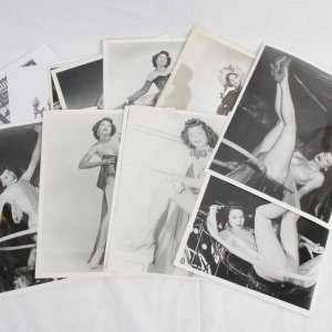 Vintage Burlesque Dancer - Rose La Rose - Peggy Bond B&W 8x10 Photos Lot of 11