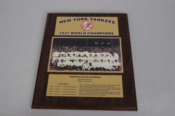 1927 New York Yankees World Champions Team Photo Display Plaque
