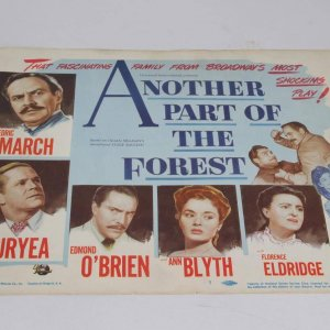 1948 Another Part Of The Forest Drama Film Movie Lobby Card Starring Fredric March