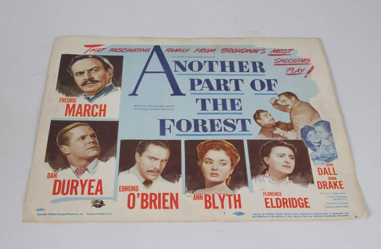 1948 Another Part Of The Forest Drama Film Movie Lobby Card