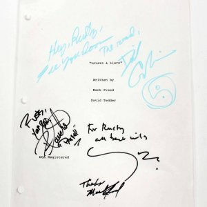 Lovers & Liars Movie Script Cover Signed by David Carradine and More