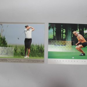 Annika Sorenstam & Jennifer Rosales Signed 8x10 Golf Legends Photo Cards - UDA