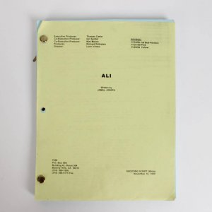 "Nov. 18, 1999 Boxing Great - Muhammad ""Ali: An American Hero"" TV Film Movie Shooting Script Written By Jamal Joseph"