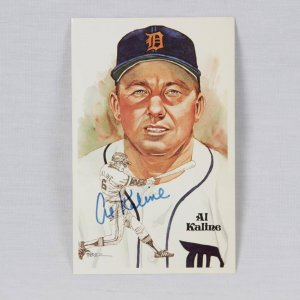 Detroit Tigers - Al Kaline Signed Perez-Steele Hall of Fame Postcard
