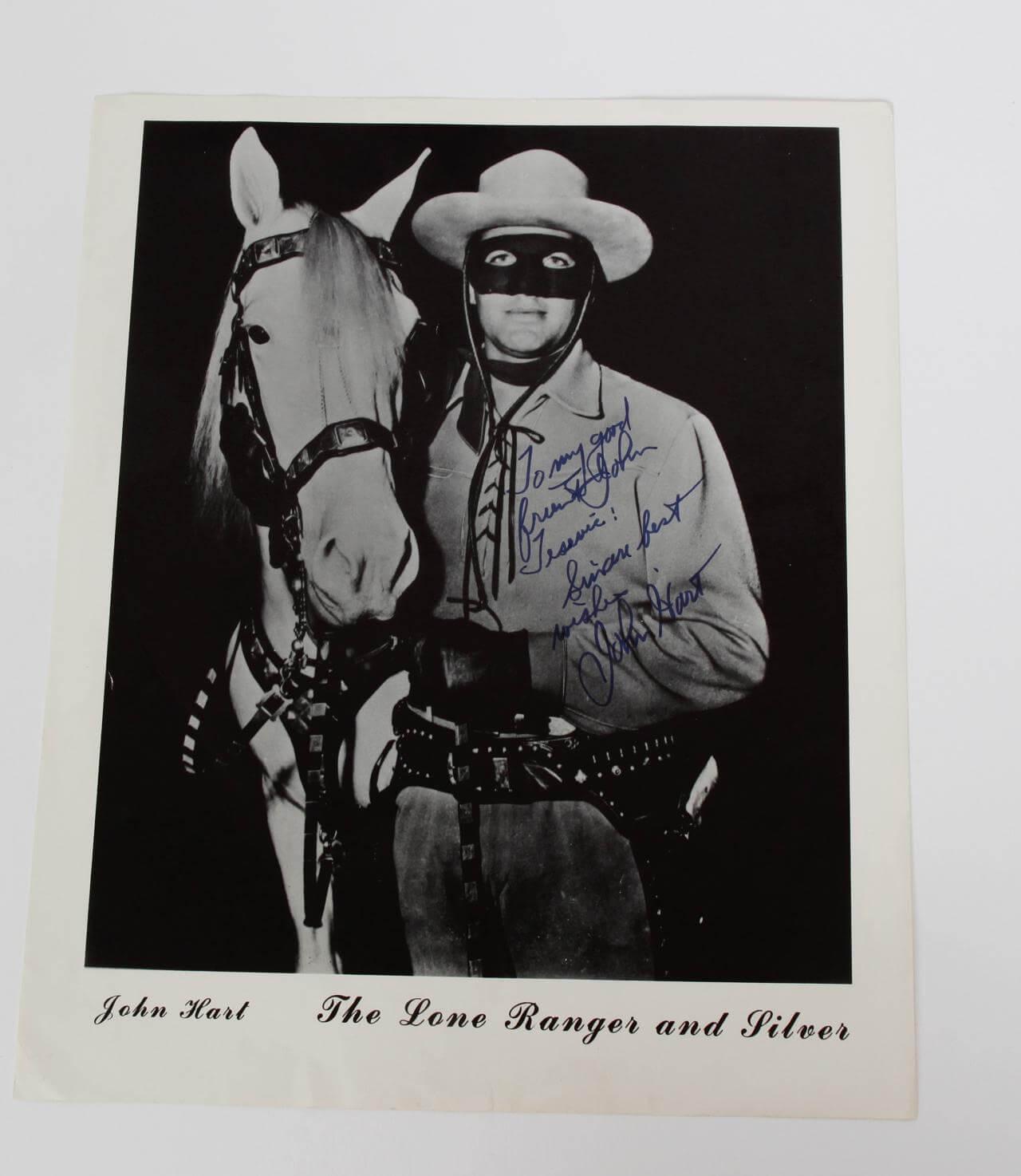 Lash Larue John Hart Signed Photos The Lone Ranger Coa Jsa