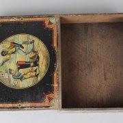 Vintage Original Mason's Challenge Blacking Shoe Polish Wood Box Featuring African American Art