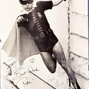 "Burt Ward Signed  Photo Insribed ""Holy Booking Agents"" Directly from his Booking Agents."
