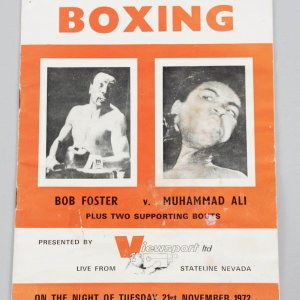 Rare November 21, 1972 - Muhammad Ali vs. Bob Foster Boxing Program Viewsport LTD (Live From Stateline Nevada)