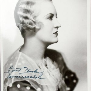 Actress Vera Teasdale Signed