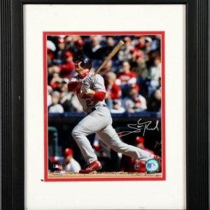 St. Louis Cardinals - Scott Rolen Signed 8x10 Photo Display Reds - COA