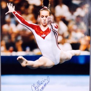 2008 Olympics USA Gymnast- Chellsie Memmel Signed 16x20 Photo - COA PSA/DNA