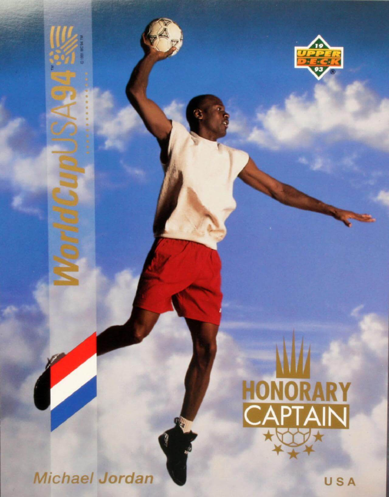 1993-94 Upper Deck UD - Michael Jordan World Cup 8.5x11 LE Photo Card