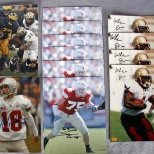 12 NCAA College Football 8X10 Signed Photos - Simon Fraser, William Green, Andy Groom, Chris Perry