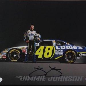 NASCAR Race Car Driver - Jimmie Johnson Signed 8x10 Photo Card (JSA COA)