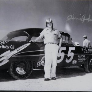 NASCAR Hall of Fame - Race Car Driver - Junior Johnson Signed 8x10 B&W Photo