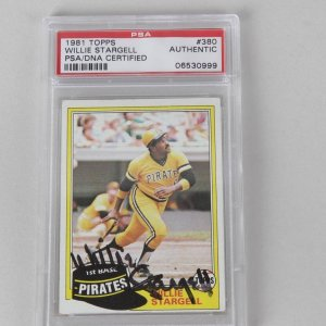Willie Stargell Pittsburgh Pirated Signed Card PSA/DNA