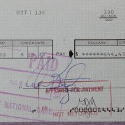 Warren Beatty Signed Personal Check