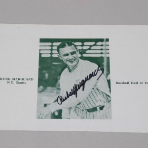 New York Giants - Boston Braves - Rube Marquard Signed Banquet Program Page Photo