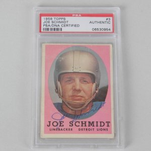 Joe Schmidt Detroit Lions Signed Card PSA/DNA