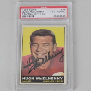 San Francisco 49ers - Hugh McElhenny Signed Football Card - PSA/DNA