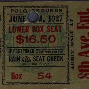 1927 Polo Grounds - Pete Latco vs. Joe Dundee - Welterweight Championship Fight Ticket Stub