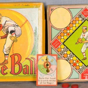 Vintage Board Game Milton Bradley Game of Baseball