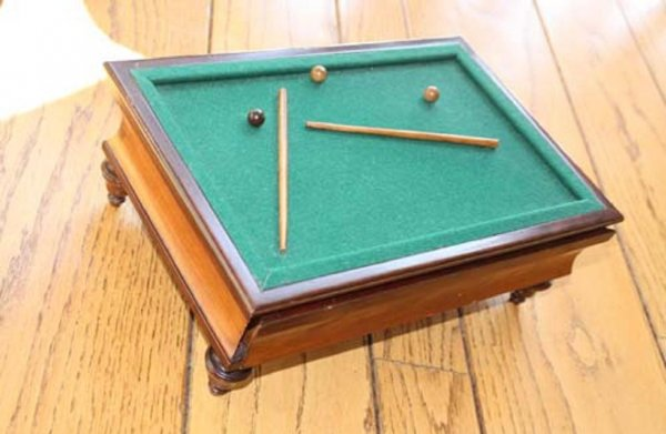 1930's Vintage Cuban Cigar Box Billiard Table from the Penny Marshall Collection