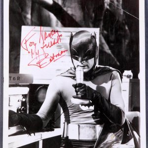 Adam West Signed Original Studio Photo as Batman (Pers.)