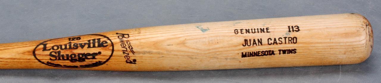 Minnesota Twins Juan Castro Game-Used Louisville Slugger (I13) Bat